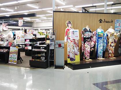 千葉県の着物・振袖店みかわやオリブ店の内観