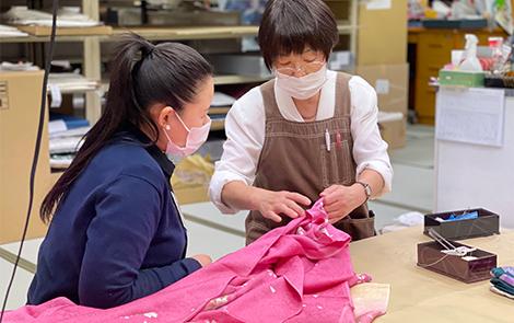 千葉県の着物・振袖店みかわやの基礎研修